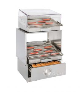 HD24 Lighted Stackable Hot Dog Grill Stand
